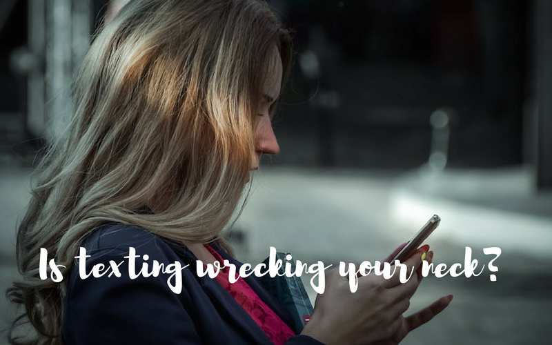 Is texting wrecking your neck?